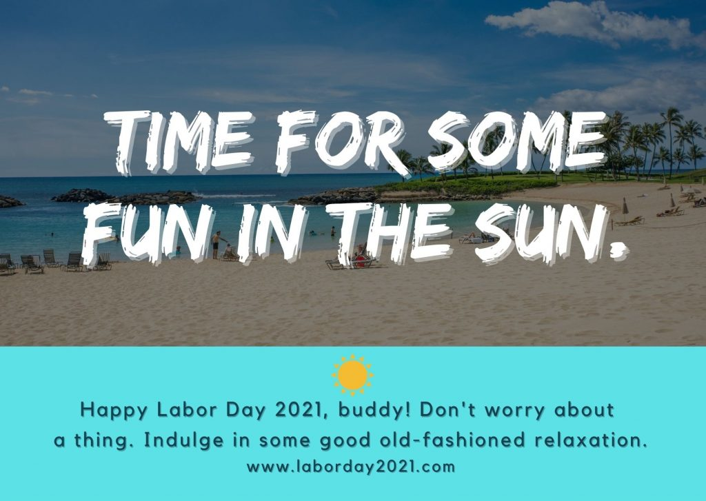 Time for some fun in the sun, Labor day event cards